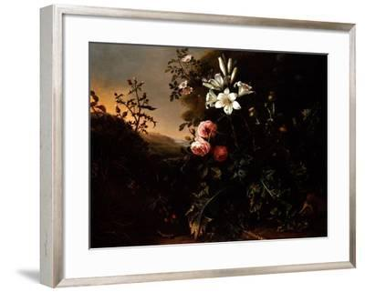 Still Life, C.1670-Matthias Withoos-Framed Giclee Print