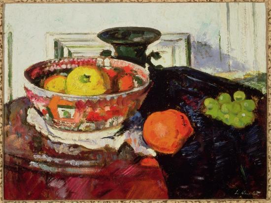 Still Life - Chinese Bowl-George Leslie Hunter-Giclee Print