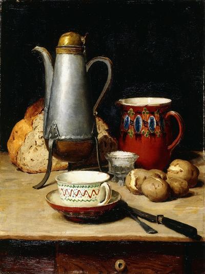 Still Life: Coffee and Potatoes, 1897-Albert Anker-Giclee Print