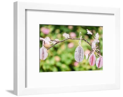 Still life Easter, flowering branch with Easter eggs, close up-mauritius images-Framed Photographic Print