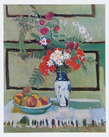 Still Life, Flowers and Fruit-Henri Matisse-Art Print