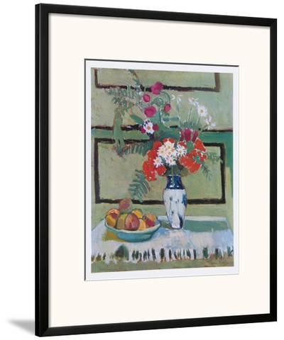Still Life, Flowers and Fruit-Henri Matisse-Framed Art Print