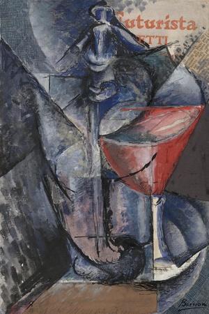Still Life: Glass and Siphon, c.1914-Umberto Boccioni-Giclee Print