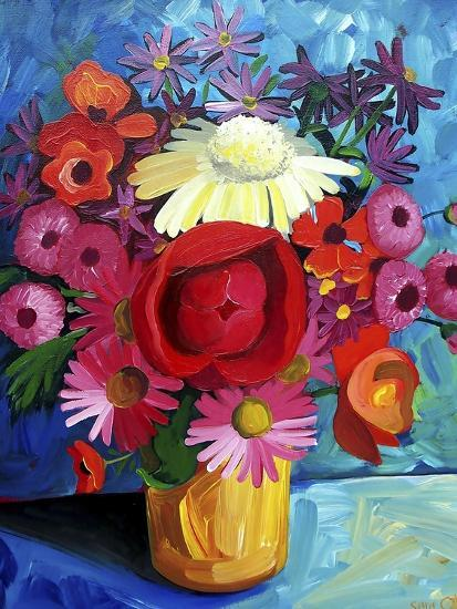 Still Life Gold Vase-Sara Catena-Giclee Print