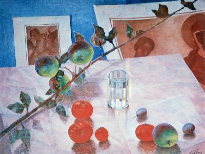 Still Life in Pink, 1918-Kuz'ma Petrov-Vodkin-Giclee Print