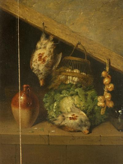 Still Life of a Hanging Bird, a Jar and a Cabbage-Benjamin Blake-Giclee Print