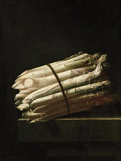 Still Life of Asparagus, 1699-Adrian Coorte-Giclee Print
