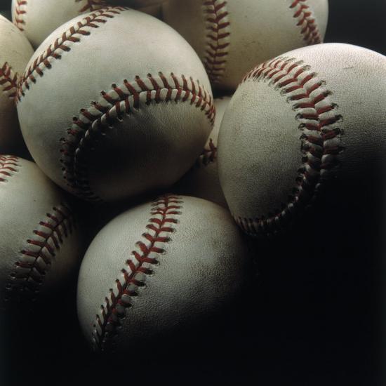 Still Life of Baseballs-Howard Sokol-Photographic Print