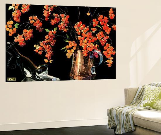 Still Life of Cat and Currants - Jack & Jill-Nelson Grafe-Wall Mural