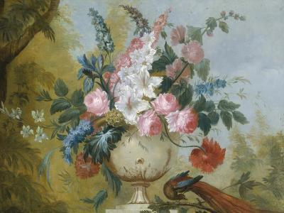 Still Life of Exotic Flowers in an Urn--Giclee Print