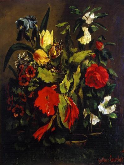 Still Life of Flowers, 1863-Gustave Courbet-Giclee Print