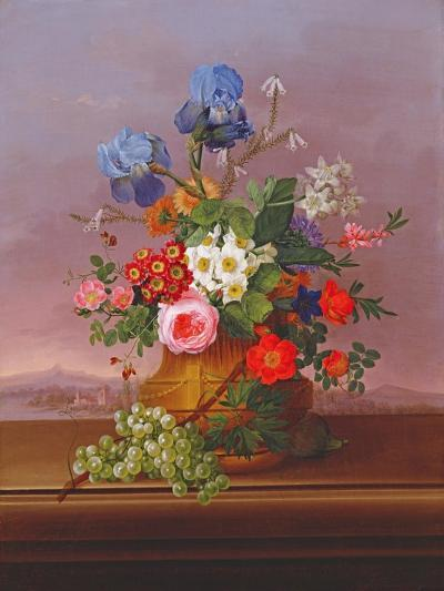 Still Life of Flowers in a Landscape, 1823-Johann Knapp-Giclee Print