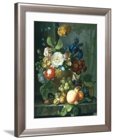 Still Life of Flowers in a Terracotta Vase-Elizabeth Van Hoogenhuyzen-Framed Giclee Print