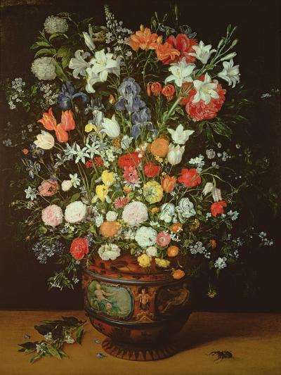 Still Life of Flowers in a Vase-Jan Brueghel the Younger-Giclee Print
