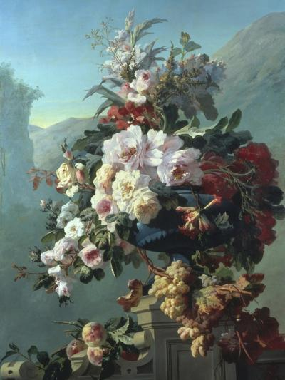 Still Life of Flowers on a Terrace-Pierre Bourgogne-Giclee Print