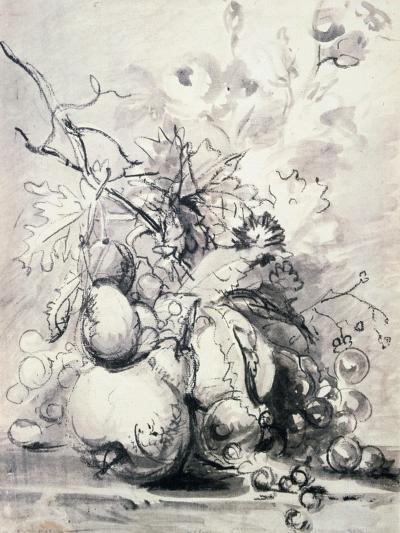 Still Life of Fruit, (1700-1749)-Jan van Huysum-Giclee Print