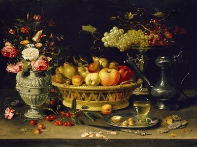 Still Life of Fruit and Flowers, 1608 - 1621-Clara Peeters-Giclee Print