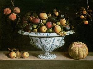 Still Life of Fruit in a Blue and White Bowl, C.1630