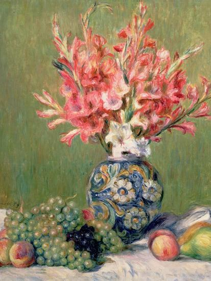 Still Life of Fruits and Flowers, 1889-Pierre-Auguste Renoir-Premium Giclee Print