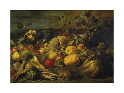 Still Life of Fruits and Vegetables, 1620s-Frans Snyders-Giclee Print