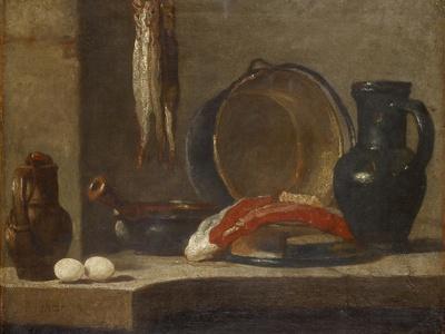 Still Life Of Kitchen Utensils, C.1733 34 Giclee Print By Jean Baptiste  Simeon Chardin | Art.com