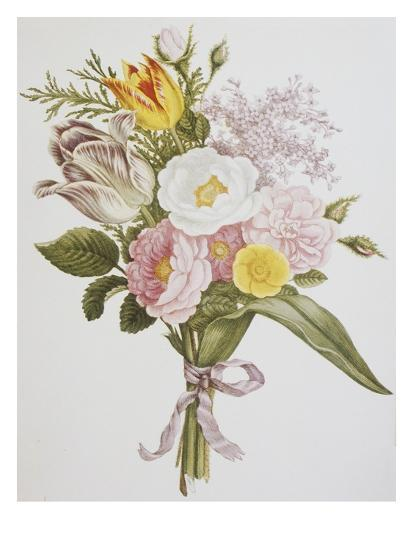Still Life of Lilacs, Roses, Buttercups and Lilies of the Valley by Jean Louis Prevost-Bettmann-Giclee Print