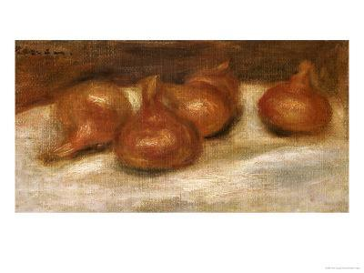 Still Life of Onions-Pierre-Auguste Renoir-Giclee Print