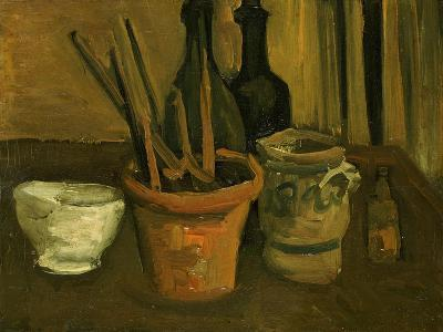 Still Life of Paintbrushes in a Flowerpot-Vincent van Gogh-Giclee Print