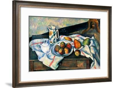 Still Life of Peaches and Pears, 1888-90-Paul C?zanne-Framed Giclee Print