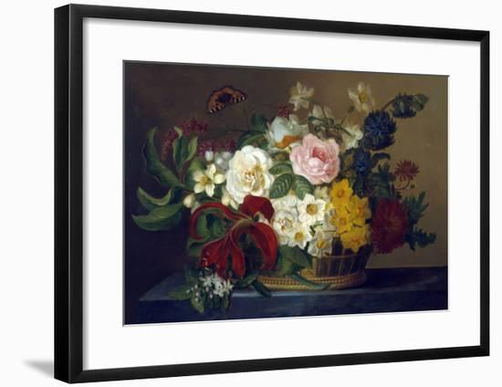 Still Life of Spring Flowers-Lucius Hermina Van Stipriaan-Framed Giclee Print