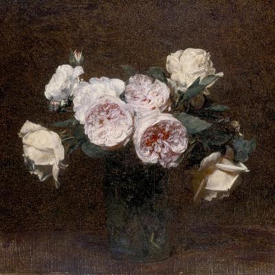 Still Life: Pink, White and Yellow Roses, 1894-Ignace Henri Jean Fantin-Latour-Giclee Print