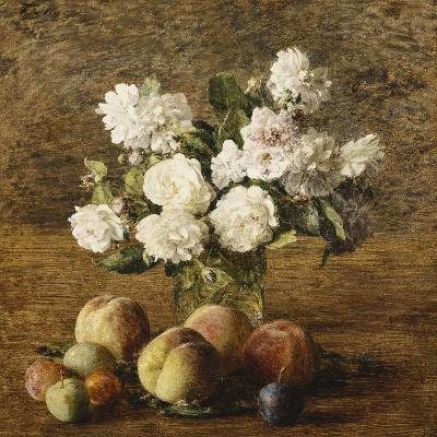 Still Life: Roses and Fruits-Henri Fantin-Latour-Giclee Print