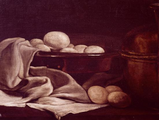 Still Life Showing Brie Cheese-Francois Bonvin-Giclee Print