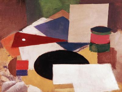 Still Life, Square on a White Background with a Black Disc-Roger de La Fresnaye-Giclee Print