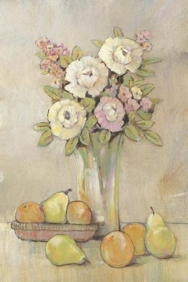 Still Life Study Flowers & Fruit I-Tim OToole-Art Print