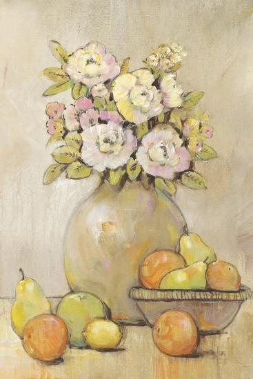Still Life Study Flowers & Fruit II-Tim OToole-Art Print