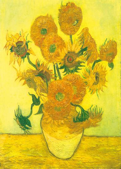 Still Life, Vase With Fifteen Sunflowers-Vincent van Gogh-Art Print