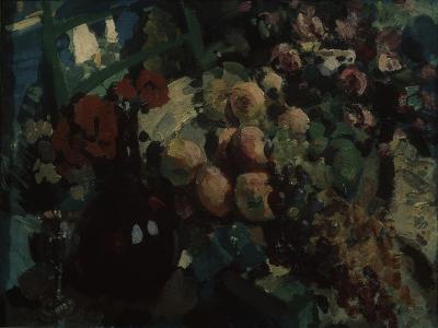 Still Life. Vine and Fruits, 1917-Konstantin Alexeyevich Korovin-Giclee Print