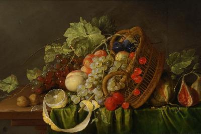 Still Life with a Basket of Fruit, Ca 1654-Cornelis de Heem-Giclee Print