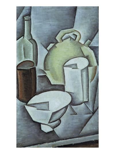 Still Life with a Bottle of Wine and an Earthenware Water Jug, 1911-Juan Gris-Giclee Print