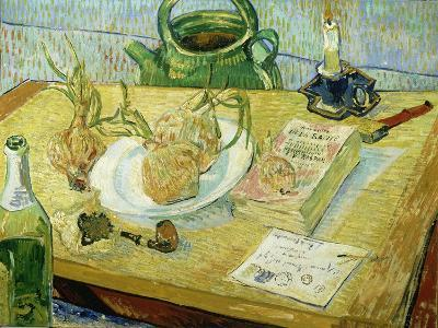 Still Life with a Drawing Board, Pipe, Onions and Sealing Wax-Vincent van Gogh-Giclee Print