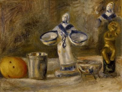 Still Life with a Faience Figure, 19th Century-Pierre-Auguste Renoir-Giclee Print