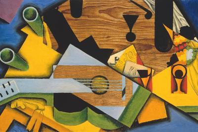 Still Life with a Guitar-Juan Gris-Giclee Print