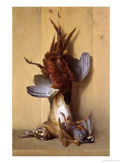 Still Life with a Hare, a Pheasant and a Red Partridge, 1753-Jean-Baptiste Oudry-Giclee Print