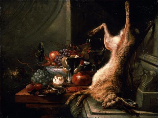 Still Life with a Hare, C1680S-Jan Baptist van Moerkerke-Giclee Print