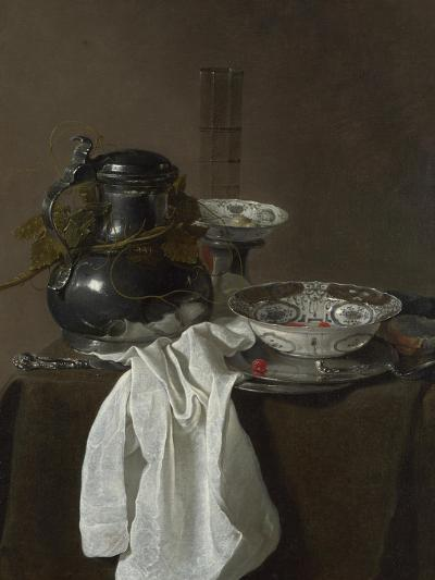 Still Life with a Pewter Flagon and Two Ming Bowls, 1651-Jan Jansz Treck-Giclee Print