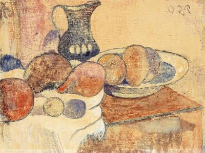 Still life with a Pitcher and Fruit-Paul Gauguin-Giclee Print