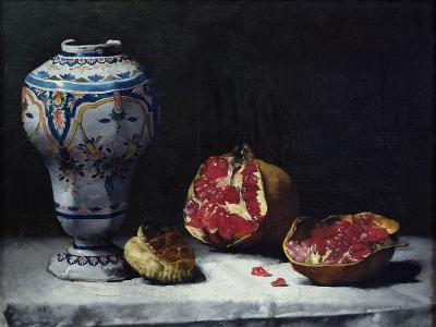 Still Life with a Pomegranate-Théodule Augustin Ribot-Giclee Print