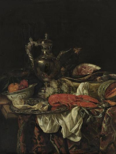 Still Life with a Silver Pitcher, 1660S-Abraham Hendricksz van Beijeren-Giclee Print