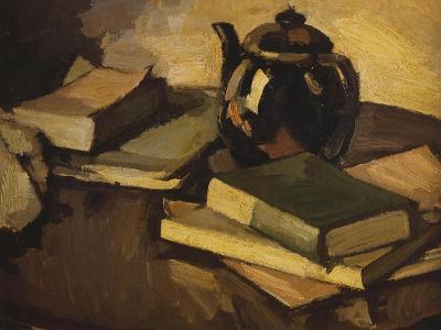 Still Life with a Teapot and Books on a Table, c.1926-Samuel John Peploe-Giclee Print